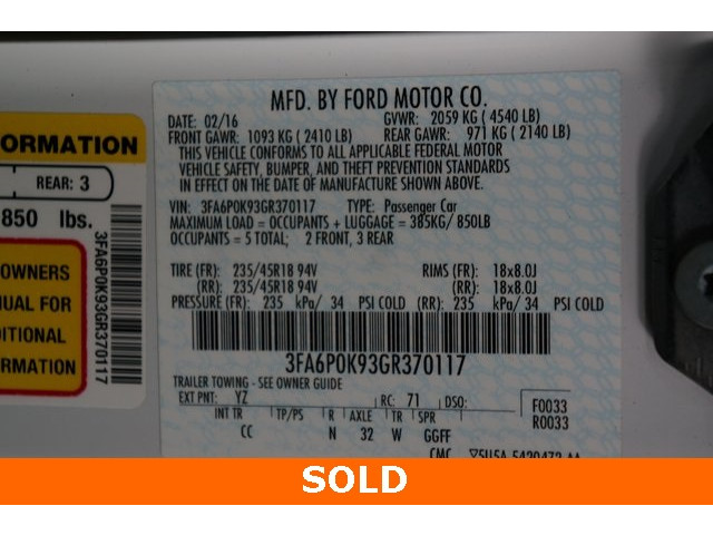 2016 Ford Fusion 4D Sedan - 504187 - Image 40