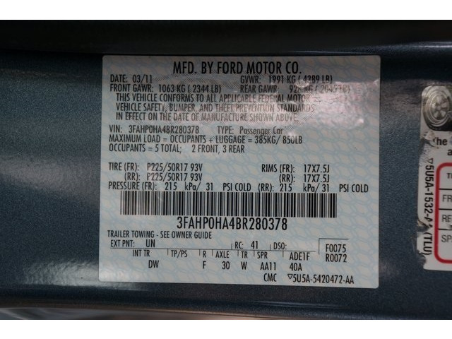 2011 Ford Fusion 4D Sedan - 504644 - Image 37
