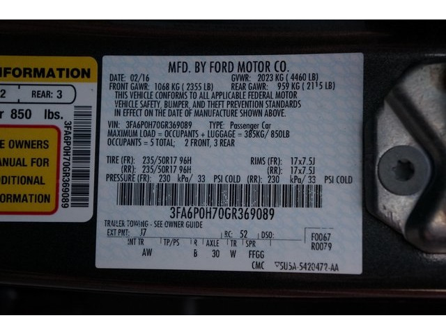 2016 Ford Fusion 4D Sedan - 504795D - Image 38